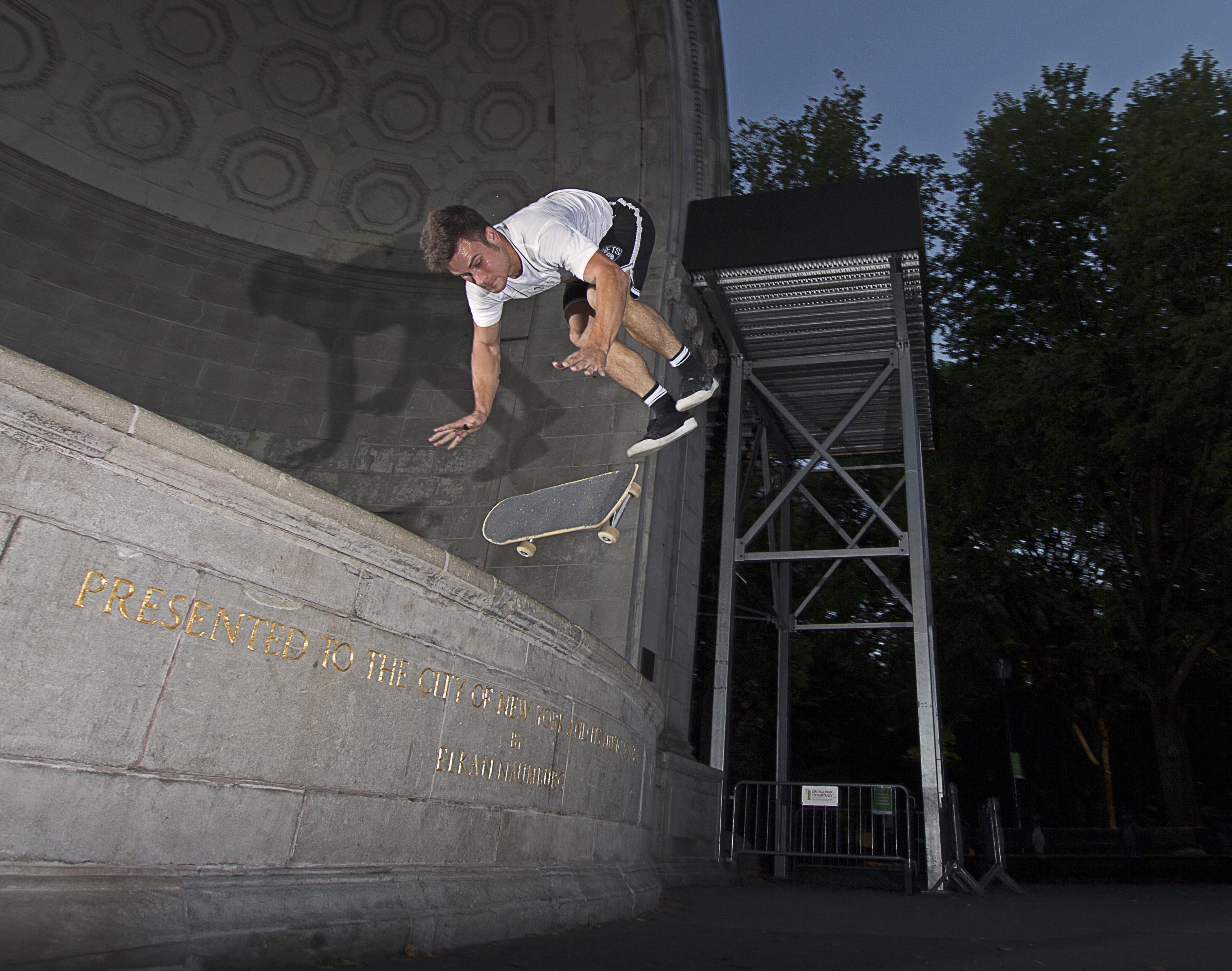 Kyle Hamilton, handstand flip off the Central Park Bandshell.