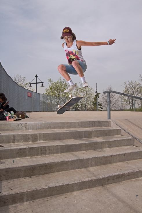 Kickflip at Chelsea Piers Skatepark. Photo;Rob Rodrigues